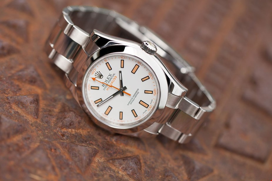 The 40 mm fake watch is made from Oystersteel.