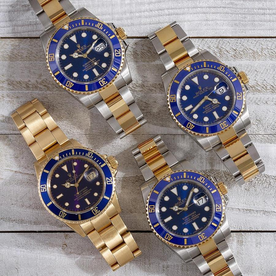 All the Submariner fake watches are designed with Oyster bracelets.